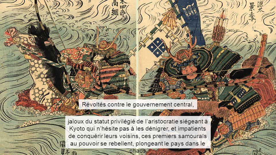 Révoltés contre le gouvernement central, jaloux du statut privilégié de l'aristocratie siégeant à Kyoto qui n'hésite pas à les dénigrer, et impatients