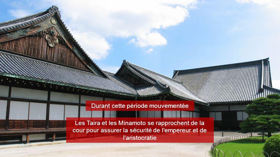 Durant cette période mouvementée Les Taira et les Minamoto se rapprochent de la cour pour assurer la sécurité de l'empereur et de l'aristocratie