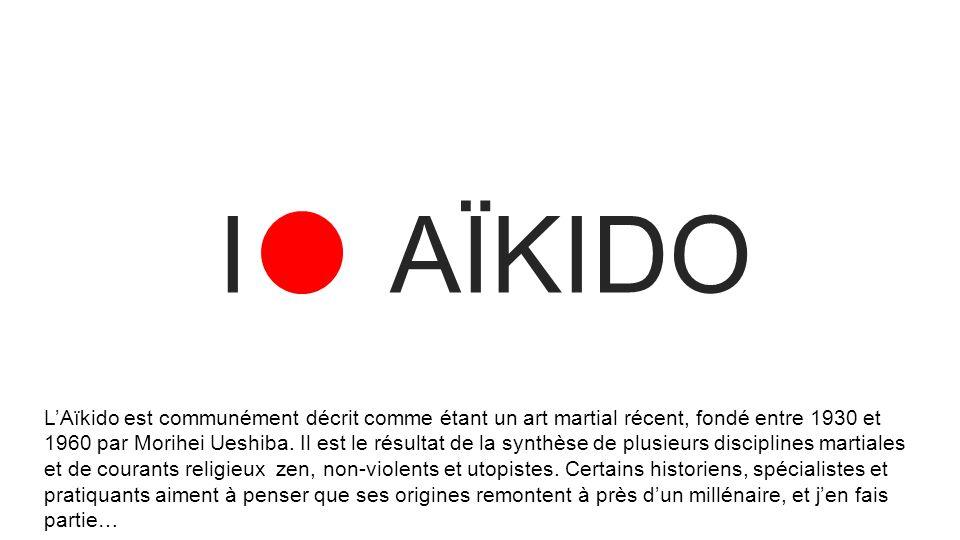 L'Aïkido est communément décrit comme étant un art martial récent, fondé entre 1930 et 1960 par Morihei Ueshiba. Il est le résultat de la synthèse de