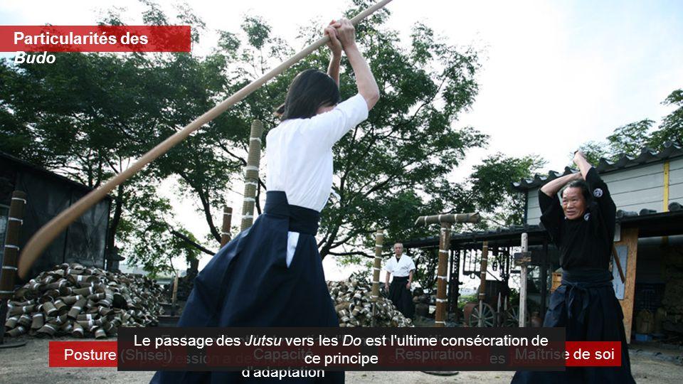 En travaillant l'art martial, l'humain s'améliore, et cette progression a des répercussions sur sa vie de tous les jours Posture (Shisei) Capacité d'a