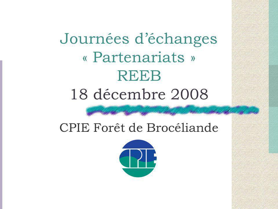 Journées d'échanges « Partenariats » REEB 18 décembre 2008 CPIE Forêt de Brocéliande