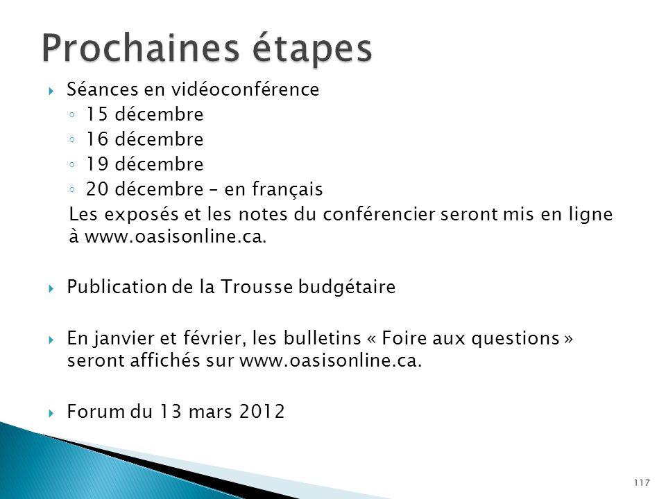  Séances en vidéoconférence ◦ 15 décembre ◦ 16 décembre ◦ 19 décembre ◦ 20 décembre – en français Les exposés et les notes du conférencier seront mis