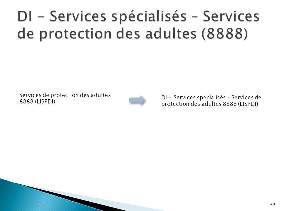 Services de protection des adultes 8888 (LISPDI) DI - Services spécialisés - Services de protection des adultes 8888 (LISPDI) 48