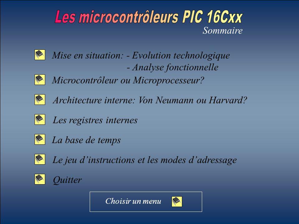 Microcontrôleur PIC Mémoire de données.