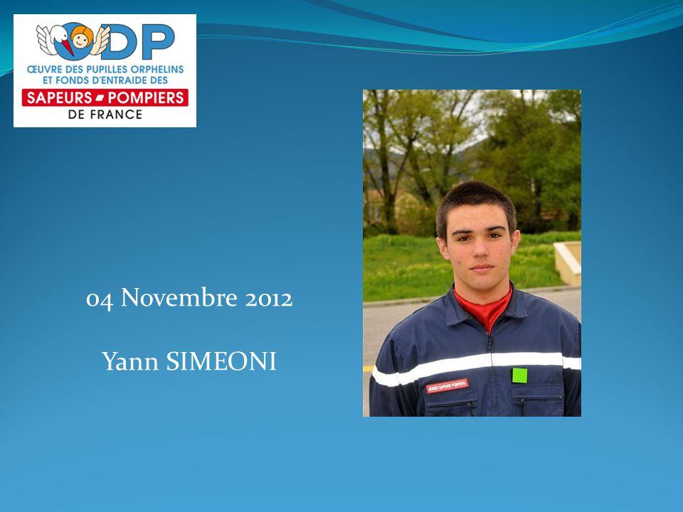04 Novembre 2012 Yann SIMEONI