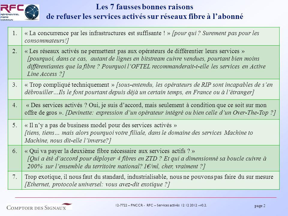 page 3 12-7722 – FNCCR - RFC – Services activés 12 12 2012 –v0.2.