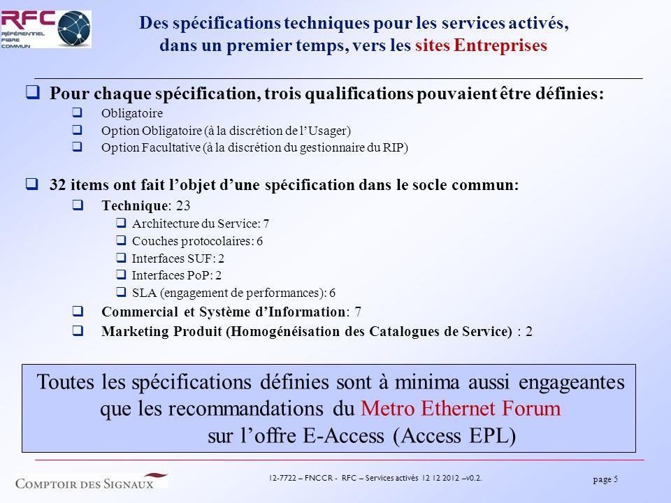 page 5 12-7722 – FNCCR - RFC – Services activés 12 12 2012 –v0.2.