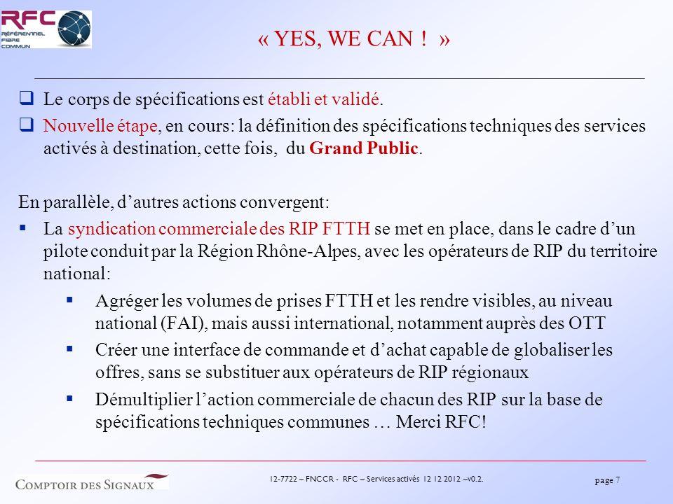 page 7 12-7722 – FNCCR - RFC – Services activés 12 12 2012 –v0.2.