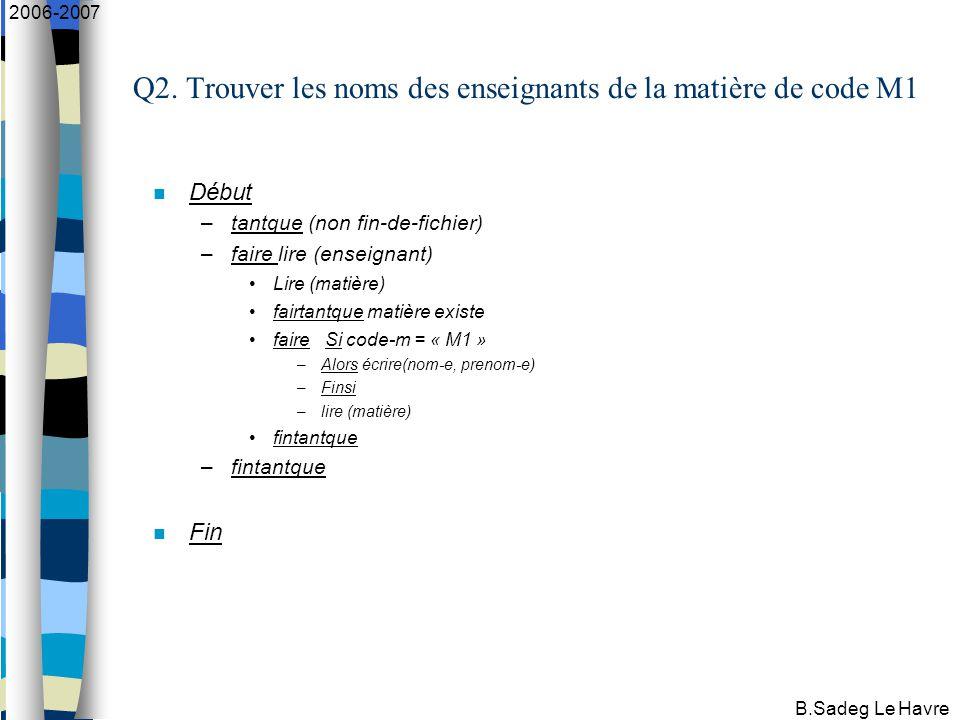 B.Sadeg Le Havre 2006-2007 Q2.