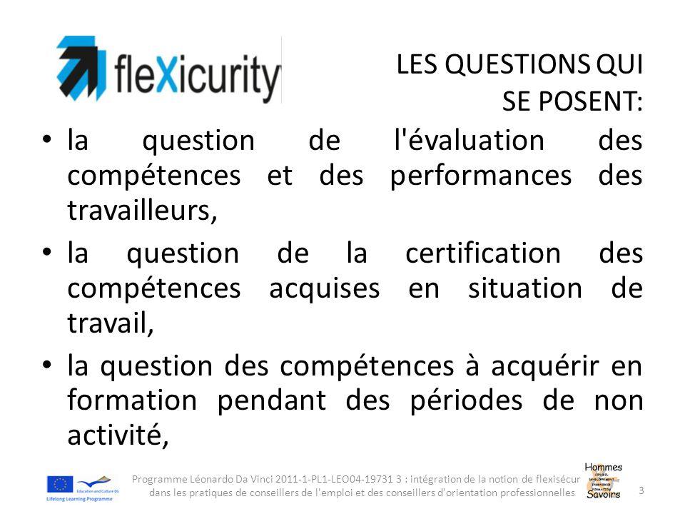 LES QUESTIONS QUI SE POSENT: la question de l'évaluation des compétences et des performances des travailleurs, la question de la certification des com