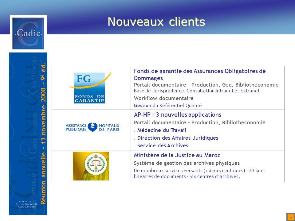 Réunion annuelle – 13 novembre 2008 – 9 e éd.