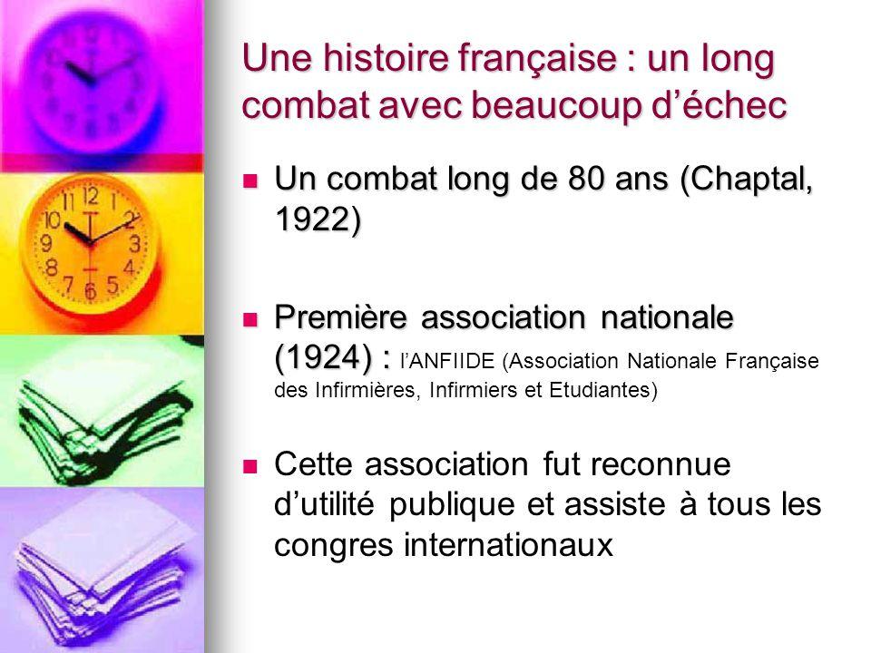 Une histoire française : un long combat avec beaucoup d'échec Un combat long de 80 ans (Chaptal, 1922) Un combat long de 80 ans (Chaptal, 1922) Premiè