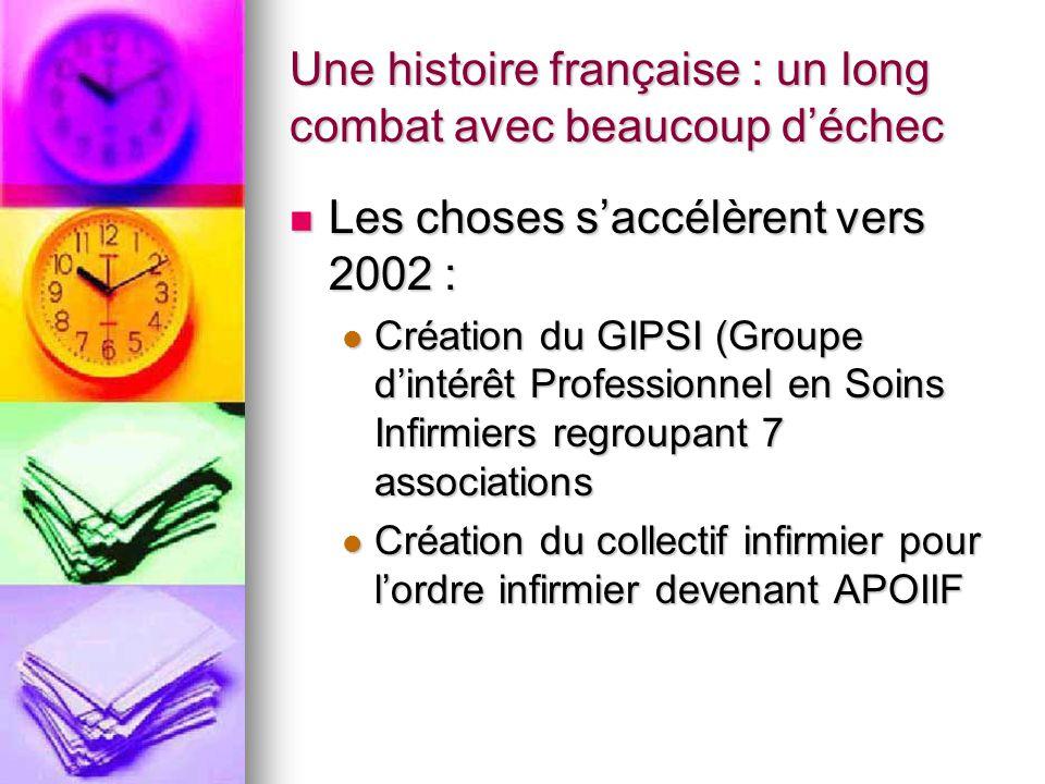 Une histoire française : un long combat avec beaucoup d'échec Les choses s'accélèrent vers 2002 : Les choses s'accélèrent vers 2002 : Création du GIPS