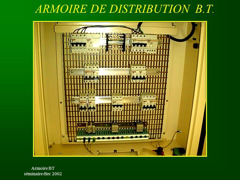Armoire BT séminaire élec 2002 ARMOIRE DE DISTRIBUTION B.T.