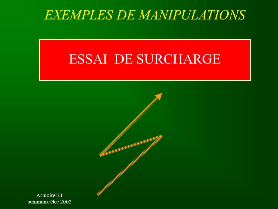 Armoire BT séminaire élec 2002 L'ELEVE CABLE L'INSTALLATION C60 N C 6A CHARGE VARIABLE 3 KW