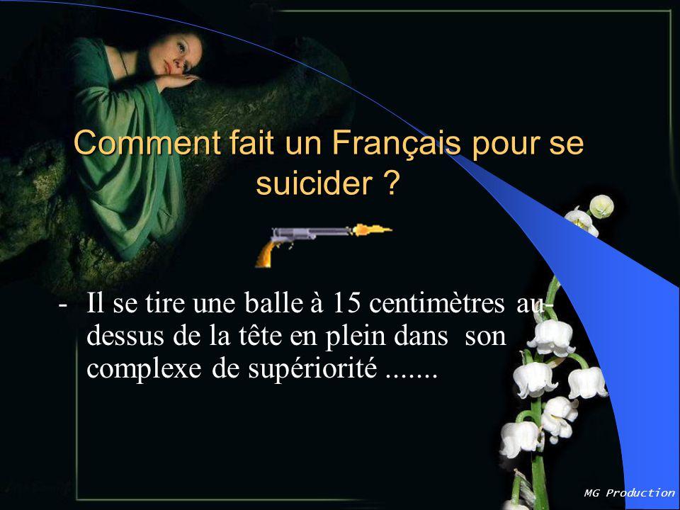 MG Production Comment fait un Français pour se suicider .