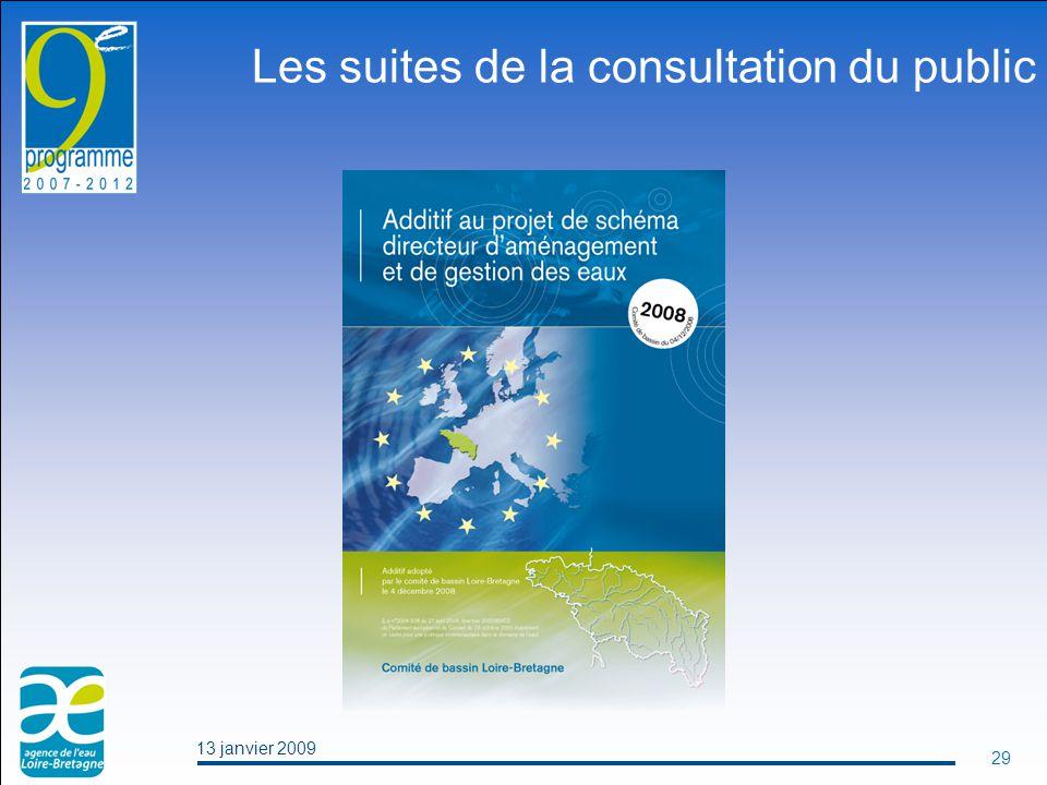 13 janvier 2009 29 Les suites de la consultation du public