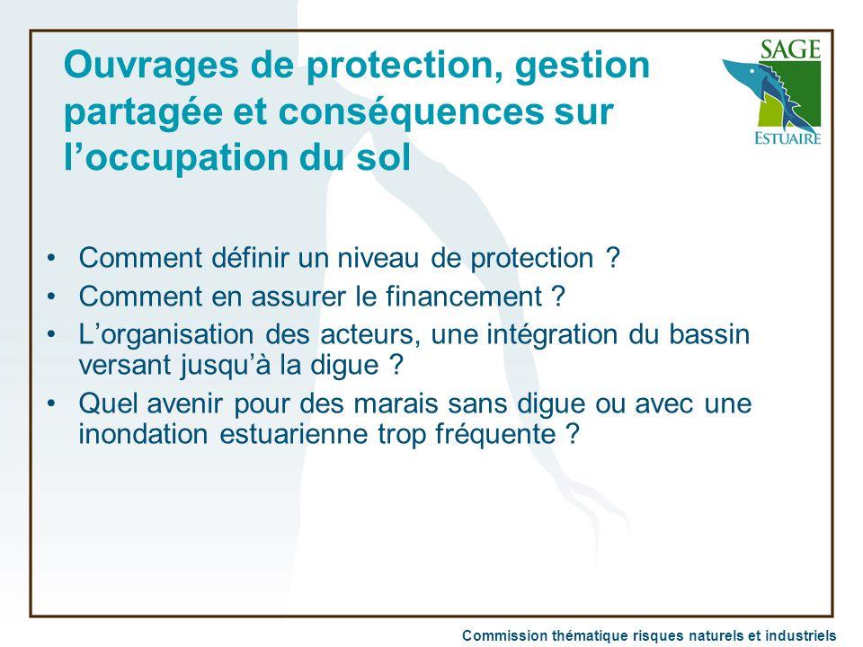 Commission thématique risques naturels et industriels Ouvrages de protection, gestion partagée et conséquences sur l'occupation du sol Comment définir