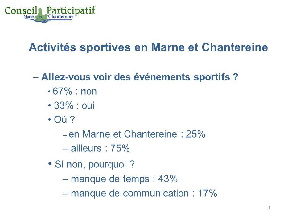 4 Activités sportives en Marne et Chantereine – Allez-vous voir des événements sportifs .