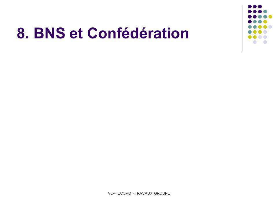 VLP- ECOPO - TRAVAUX GROUPE 8. BNS et Confédération