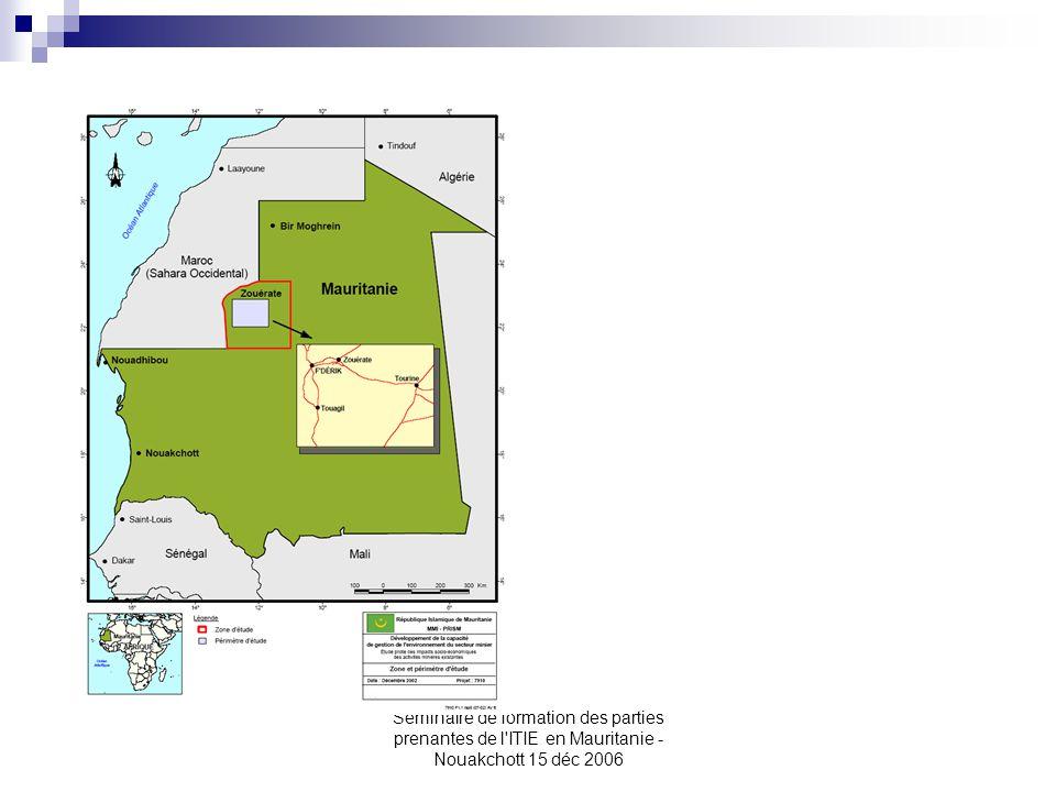 Seminaire de formation des parties prenantes de l'ITIE en Mauritanie - Nouakchott 15 déc 2006