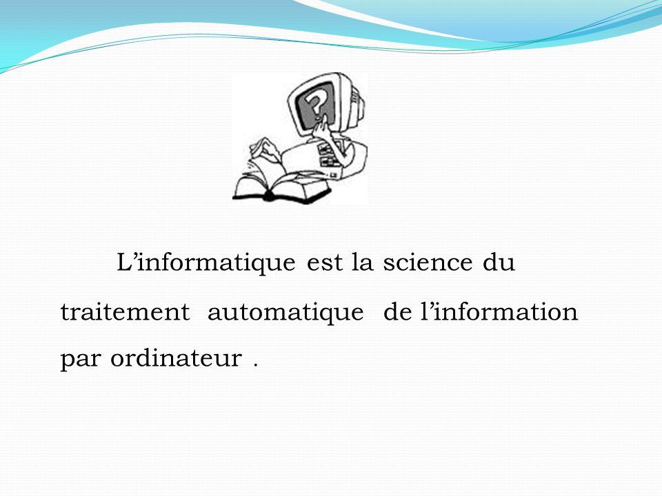 1-Traitement l'ensemble des opérations effectuées sur des donnée a fin de les rendre utilisables.