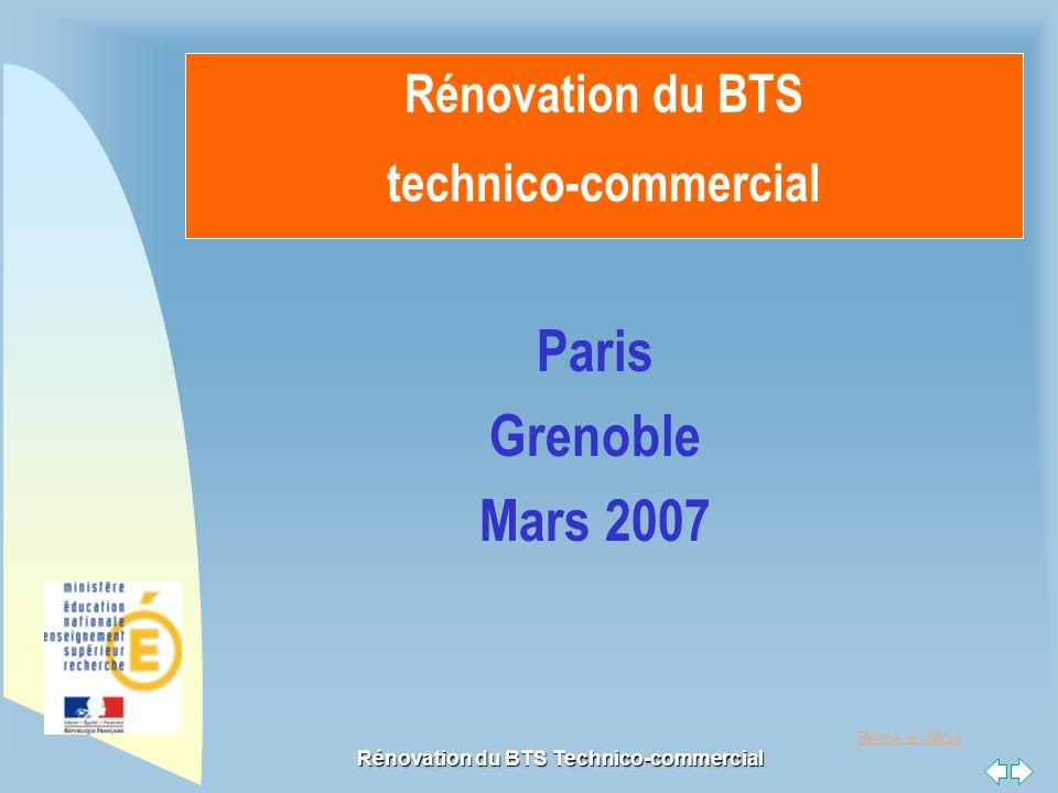 Retour au début Rénovation du BTS Technico-commercial Rénovation du BTS technico-commercial Paris Grenoble Mars 2007