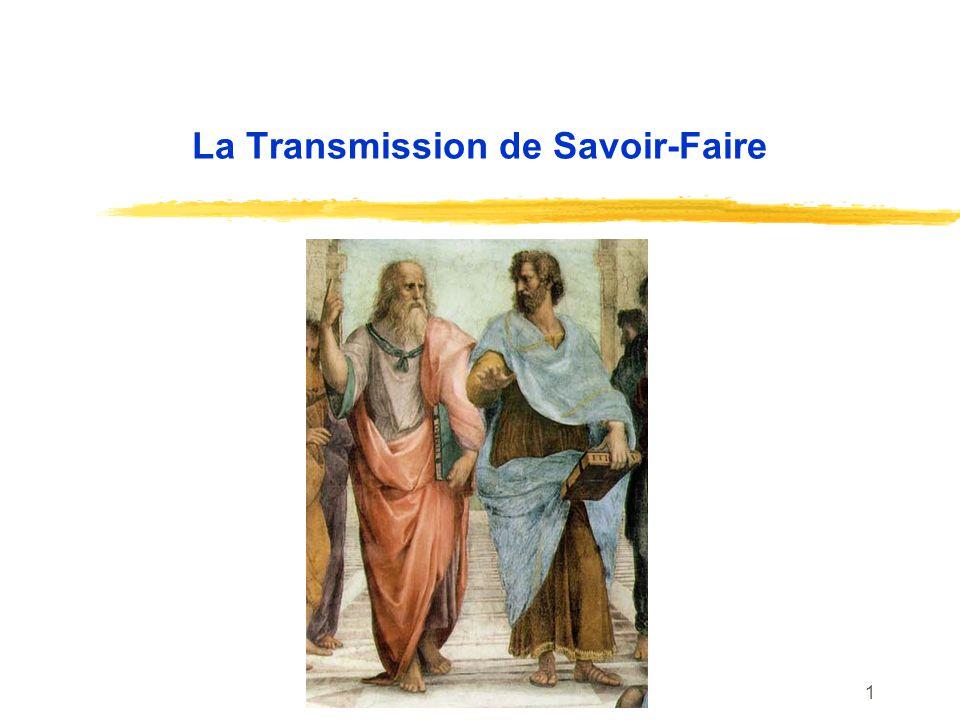 1 La Transmission de Savoir-Faire
