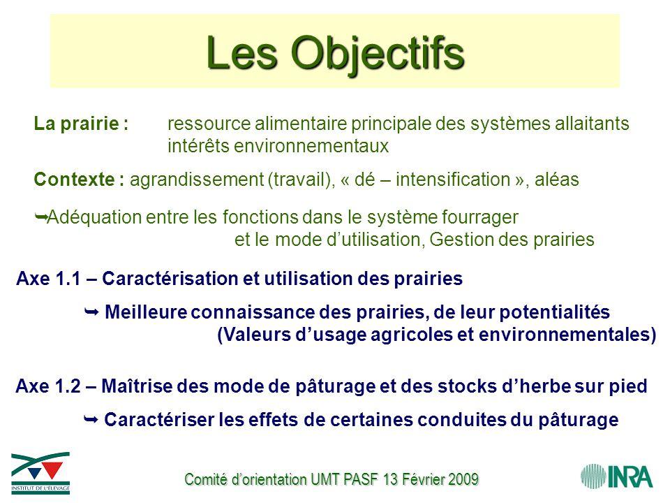 Comité d'orientation UMT PASF 13 Février 2009 La prairie : ressource alimentaire principale des systèmes allaitants intérêts environnementaux Contexte