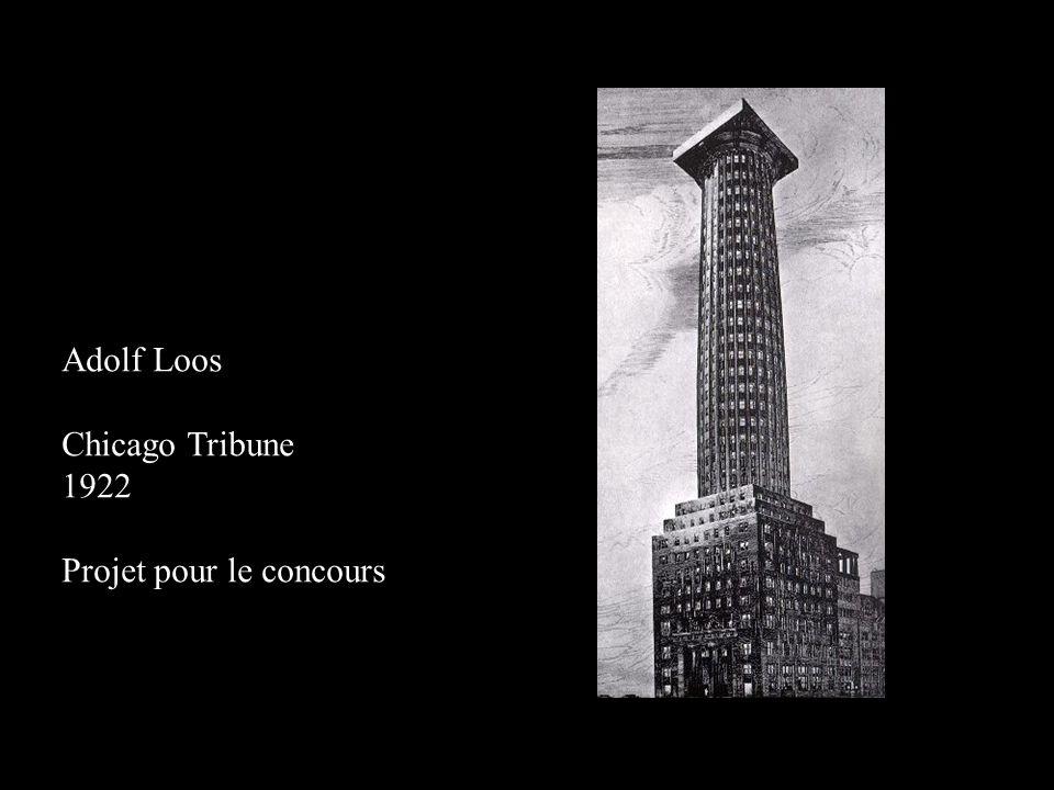 Adolf Loos Chicago Tribune 1922 Projet pour le concours