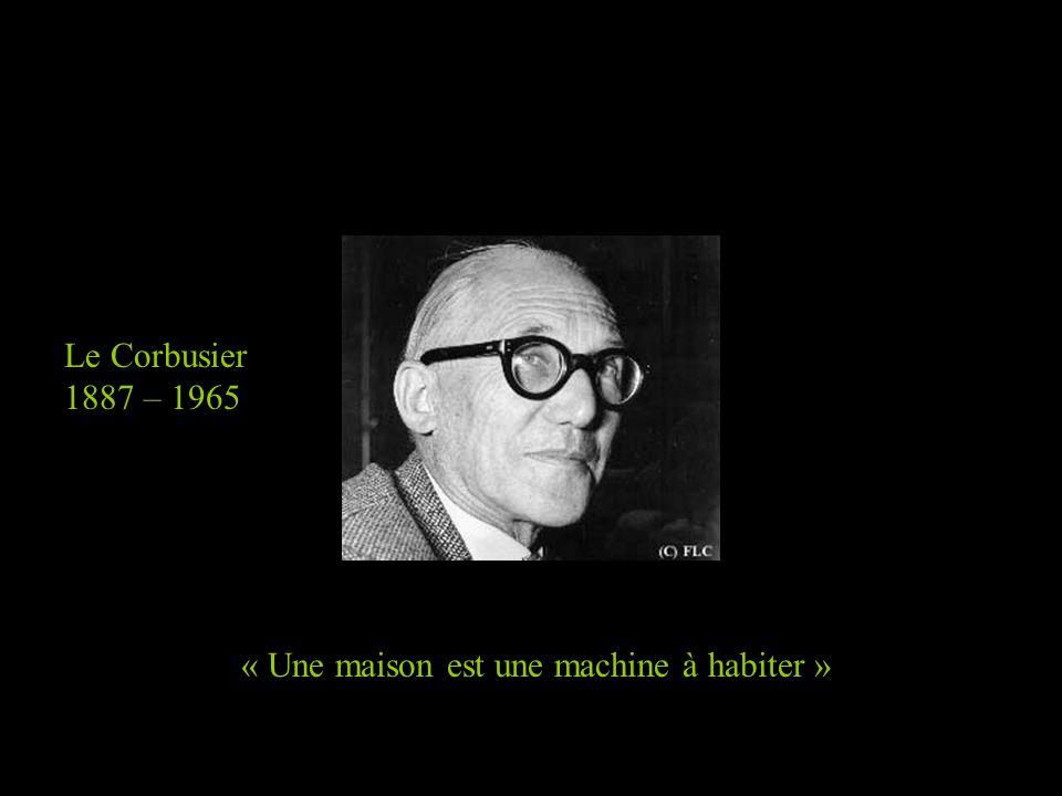 « Une maison est une machine à habiter » Le Corbusier 1887 – 1965