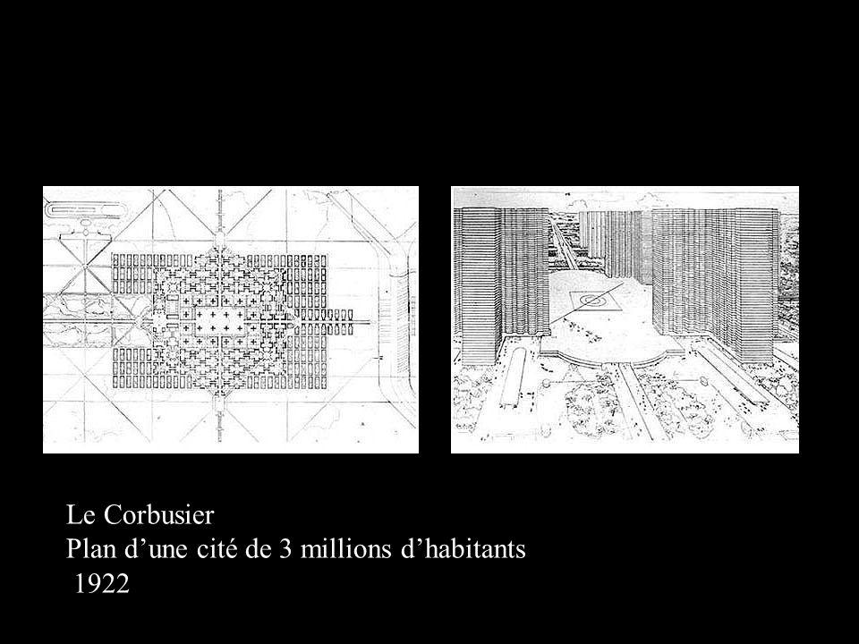 Le Corbusier Plan d'une cité de 3 millions d'habitants 1922
