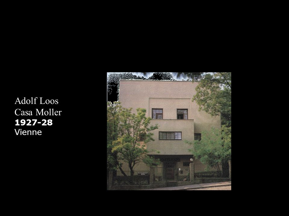 Adolf Loos Moller House 1927-28 Vienne provides us with an example of Loos Raumplan, which was originated with the Steiner House in 1910 (Safran, 11), and is defined as a system of proportional relationships specific to each spatial condition by Schezen