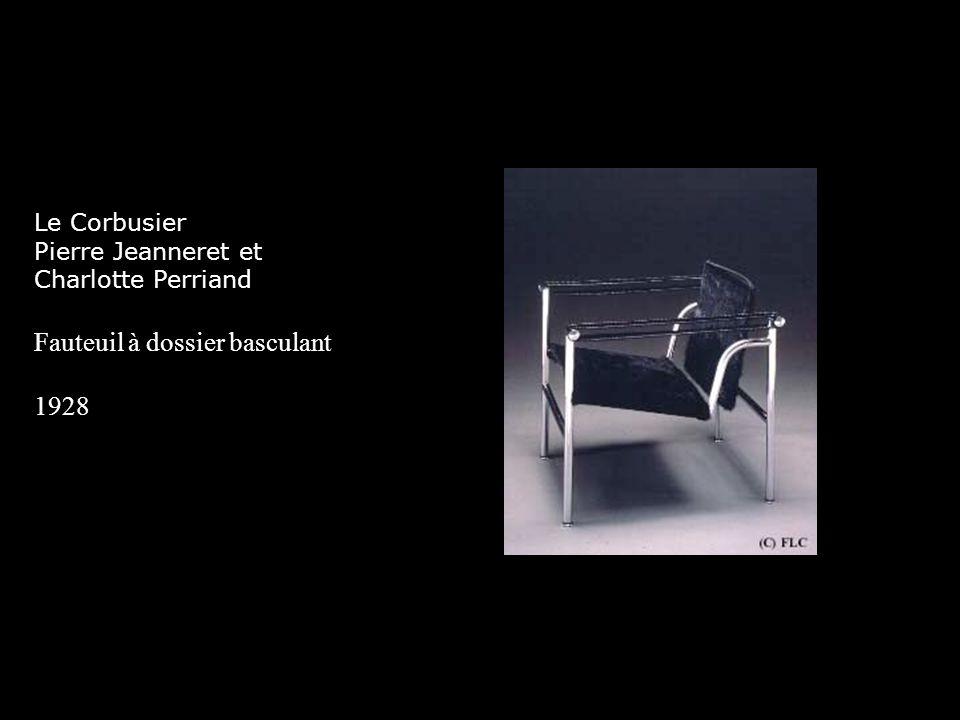 Le Corbusier Pierre Jeanneret et Charlotte Perriand Fauteuil à dossier basculant 1928