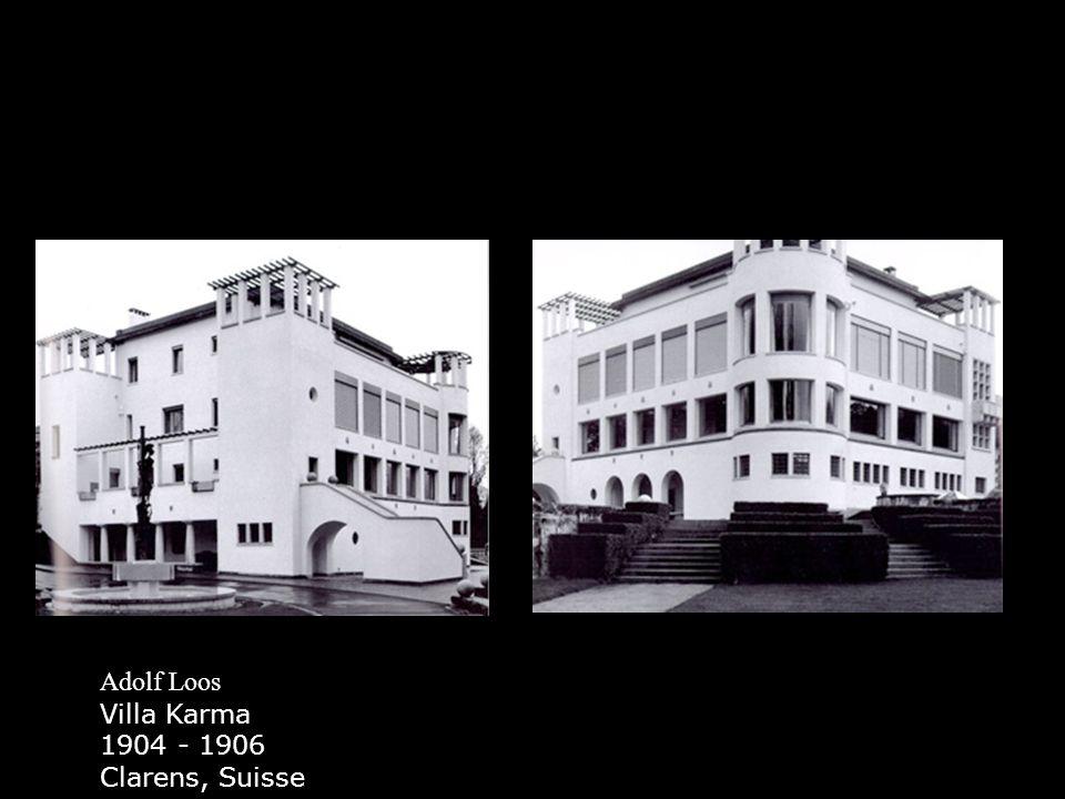 Le Corbusier Villa Schwob 1916 167, rue du Doubs - 2300 La Chaux de Fonds Tél:00.41.32.912.31.31
