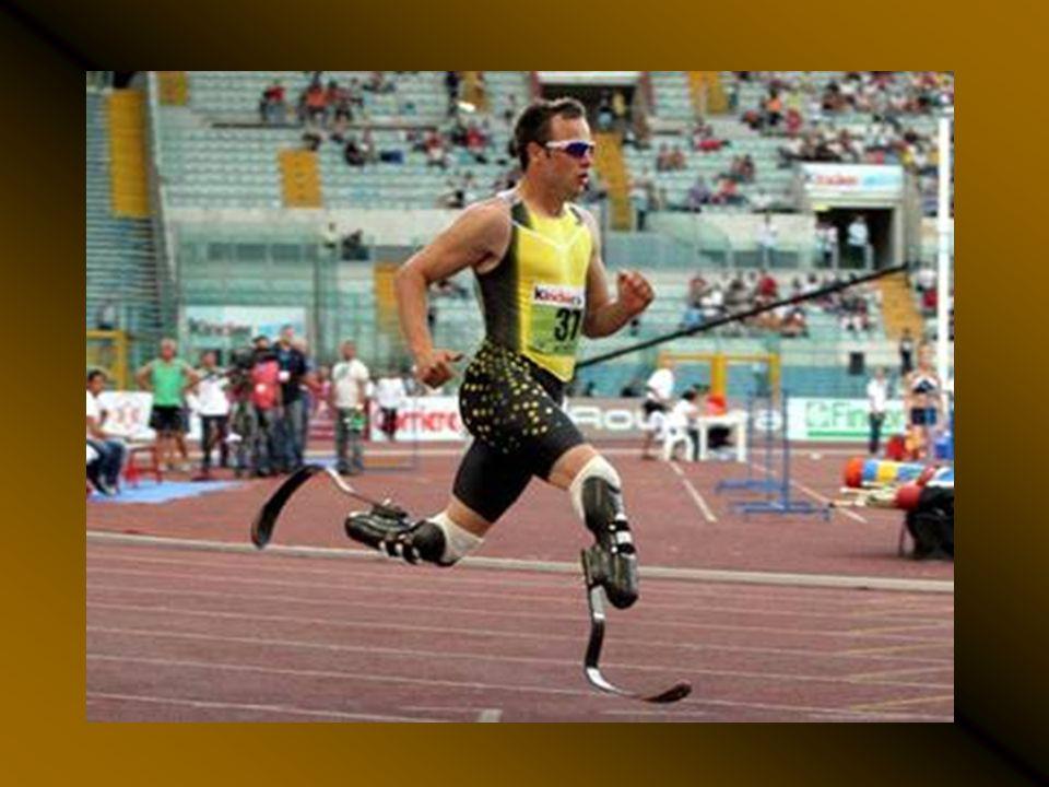 Oscar Pistorius, participe aux Jeux Olympiques de Pékin 2008. Il y a gagné la course du 100 mètres.
