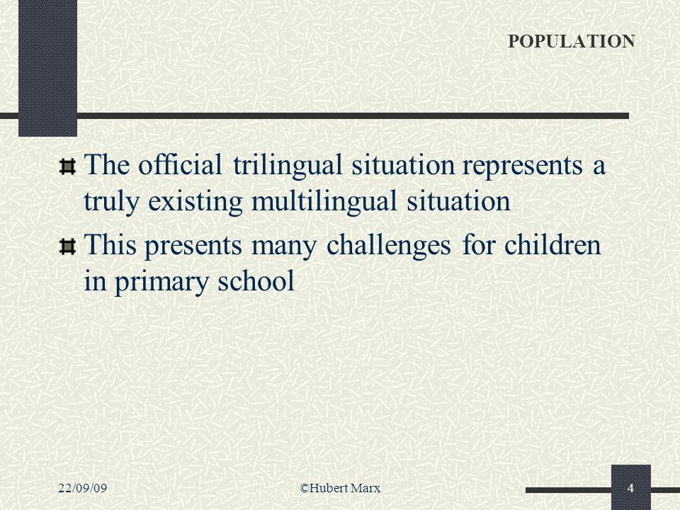 22/09/09©Hubert Marx15 Main goals Reducing school failure in a medium and long range perspective by early detection and intervention Helping/consulting the classroom teacher in order to guarantee an inclusion of the child presenting a problem