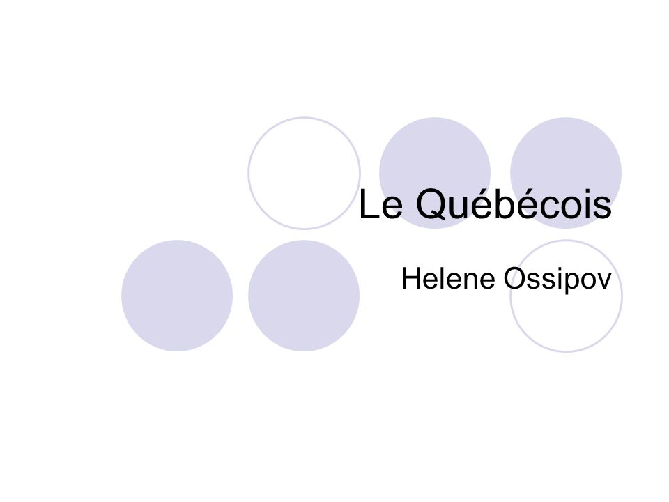 Le Québécois Helene Ossipov