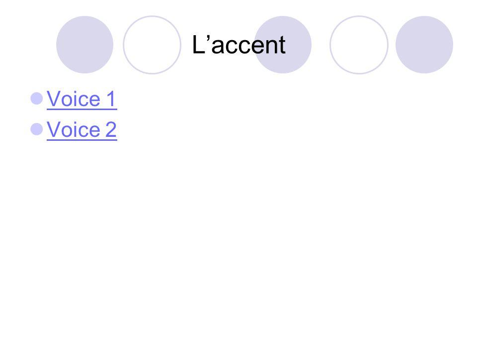 L'accent Voice 1 Voice 2