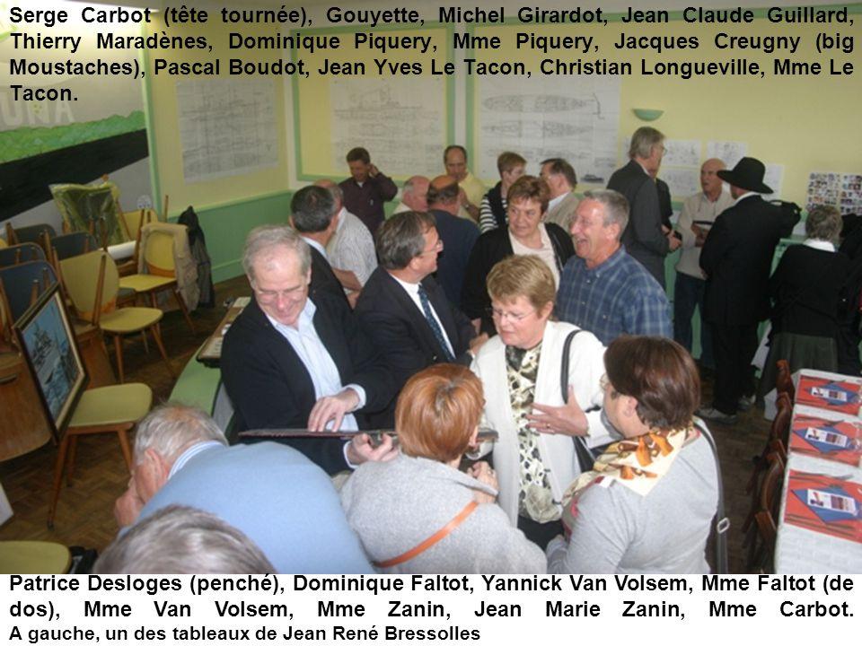 Serge Carbot (tête tournée), Gouyette, Michel Girardot, Jean Claude Guillard, Thierry Maradènes, Dominique Piquery, Mme Piquery, Jacques Creugny (big