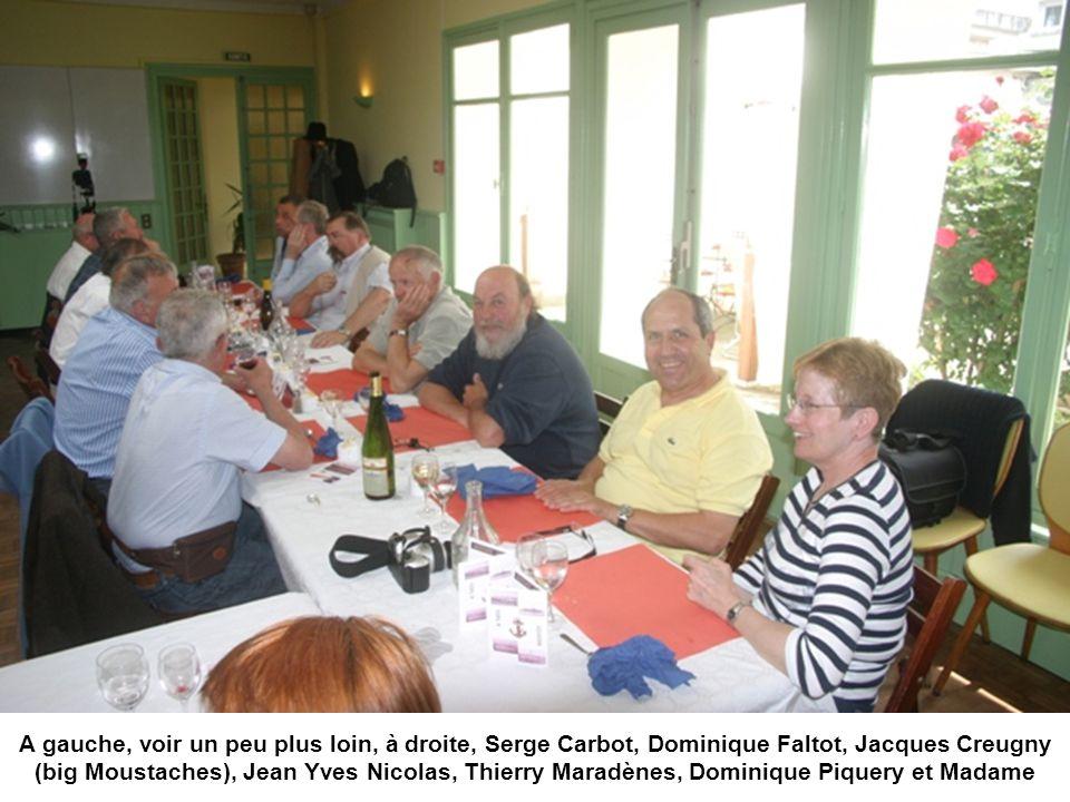 A gauche, voir un peu plus loin, à droite, Serge Carbot, Dominique Faltot, Jacques Creugny (big Moustaches), Jean Yves Nicolas, Thierry Maradènes, Dom