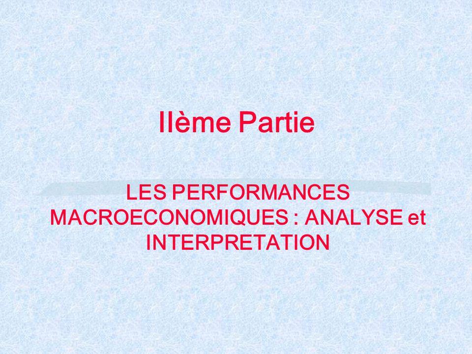 IIème Partie LES PERFORMANCES MACROECONOMIQUES : ANALYSE et INTERPRETATION