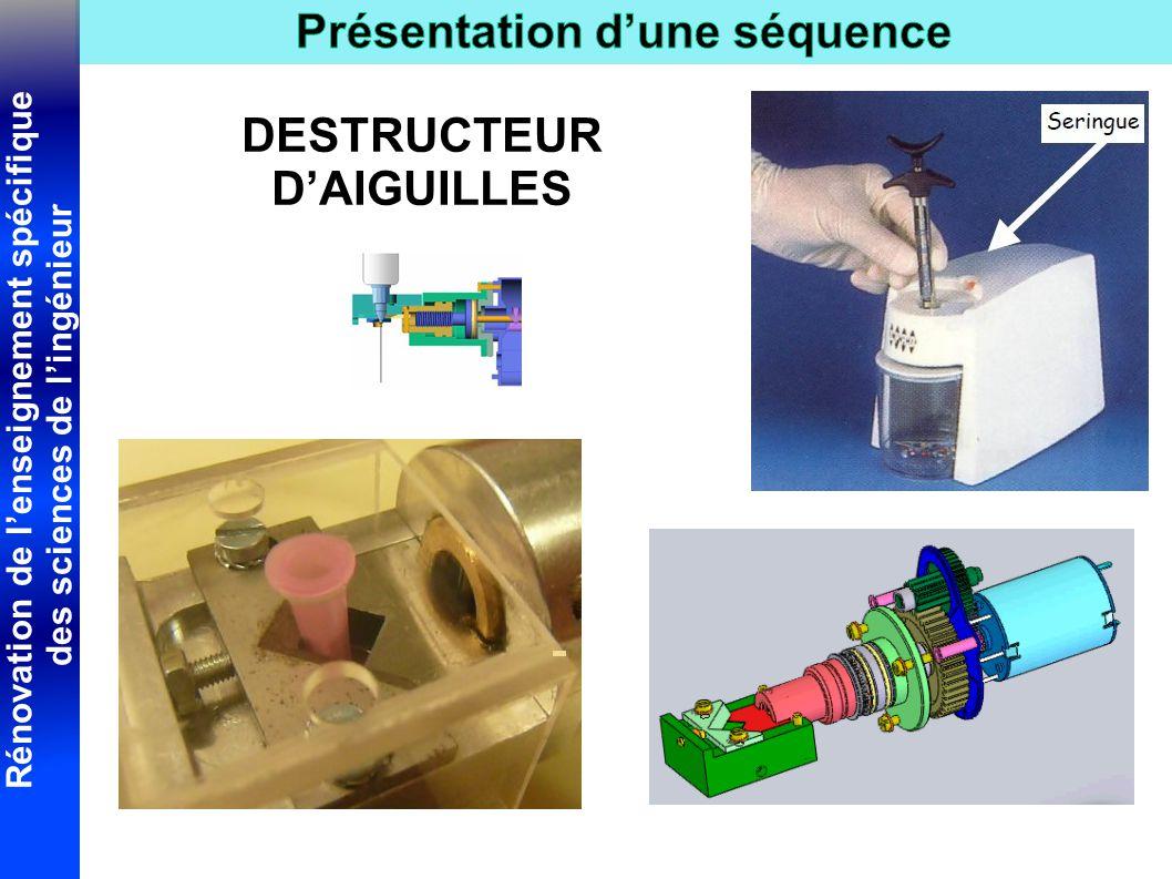 Rénovation de l'enseignement spécifique des sciences de l'ingénieur DESTRUCTEUR D'AIGUILLES