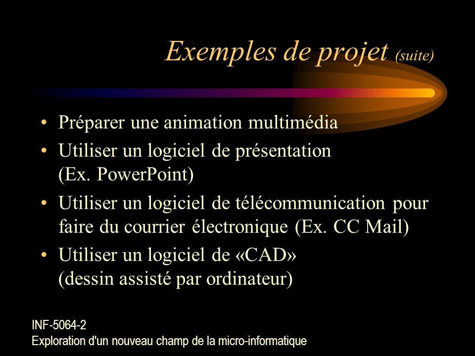 Exemples de projet Élaborer un journal étudiant à l'aide d'un logiciel d'éditique (Ex. MS Publisher)Élaborer un journal étudiant à l'aide d'un logicie