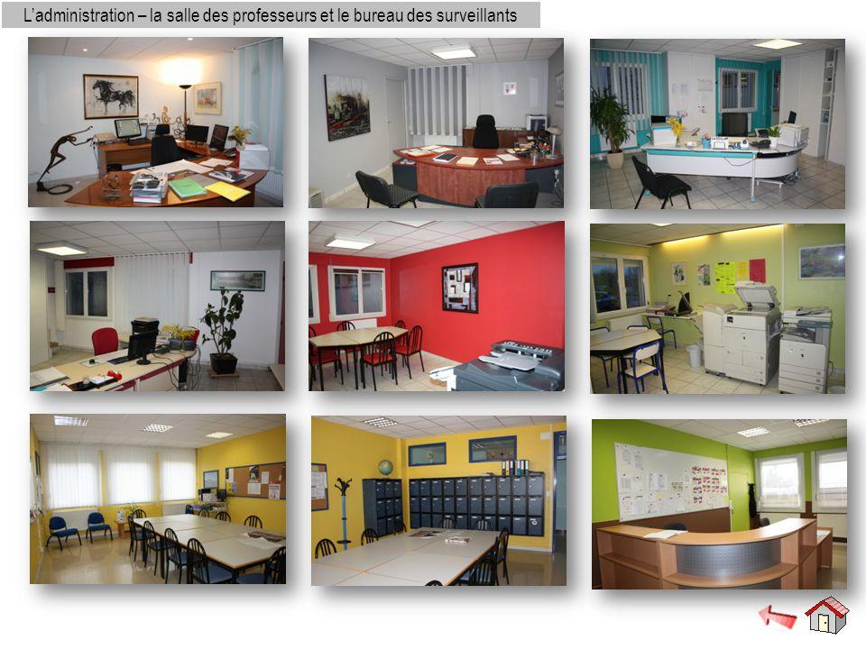 L'administration – la salle des professeurs et le bureau des surveillants