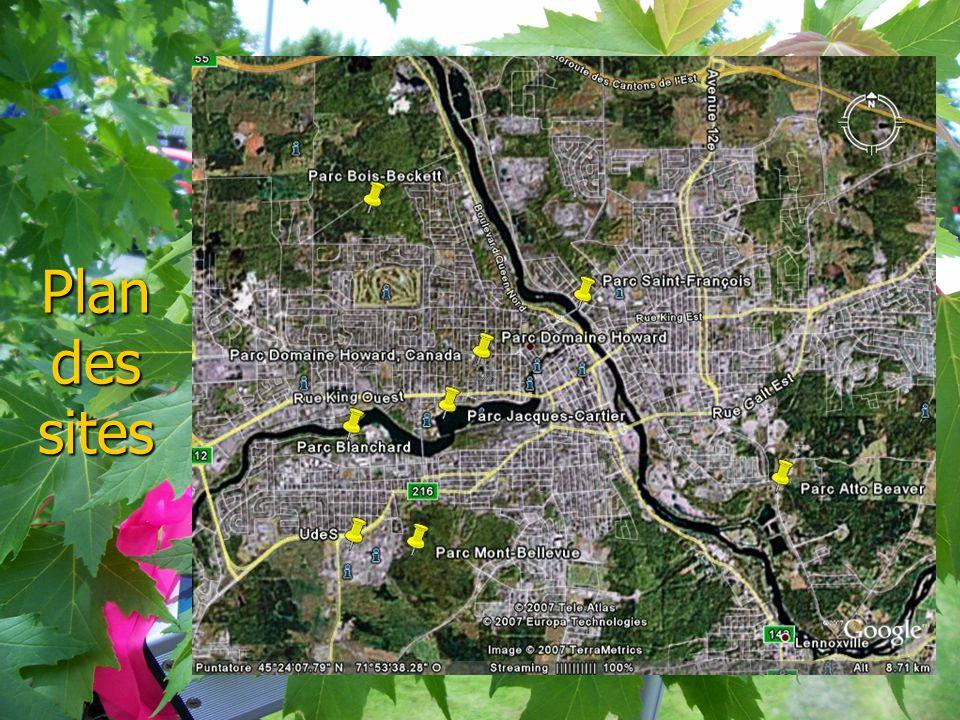 Plan des sites