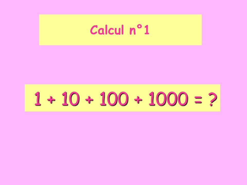 10 – 1 – 0,1 – 0,01 = ? Calcul n°2