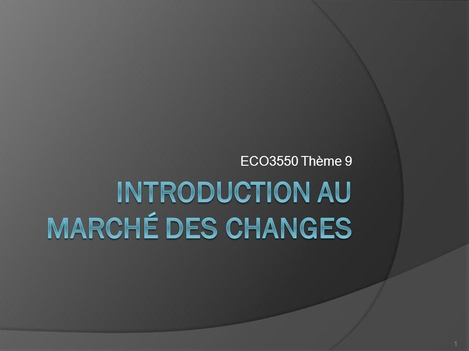 Plan I.Modèle simple de fixation des taux de change II.