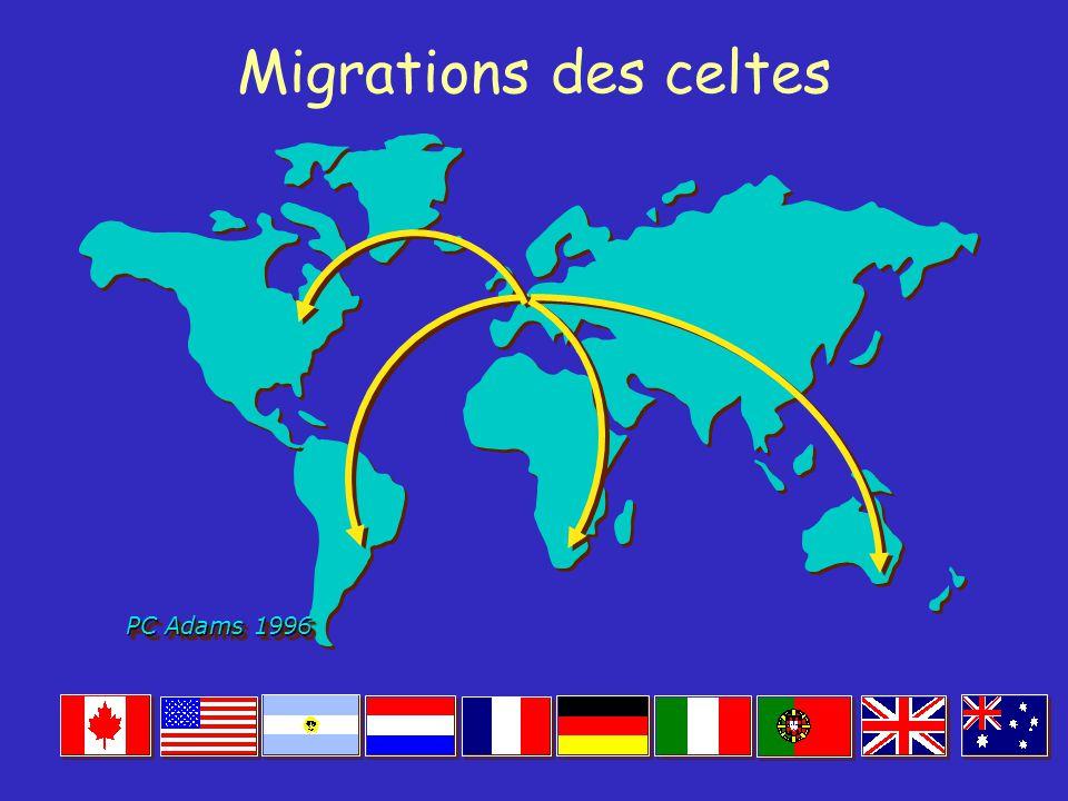 Migrations des celtes PC Adams 1996