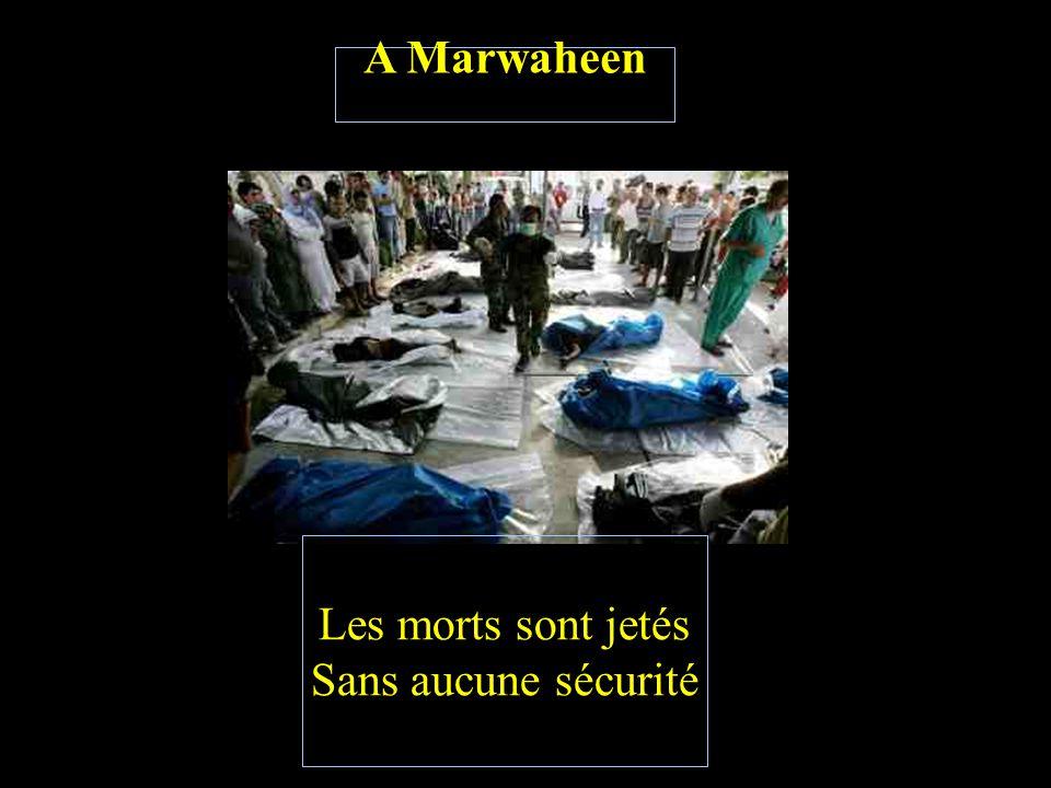 A Marwaheen Des enfants innocents Des bébés nourrissants Sont devenus victimes